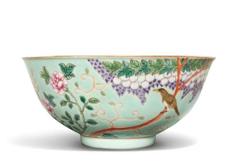 A turquoise-ground 'Dayazhai' bowl, Qing dynasty, Guangxu period