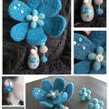 Broche fleur matriochka