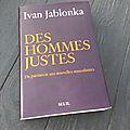 « des hommes justes » d'ivan jablonka