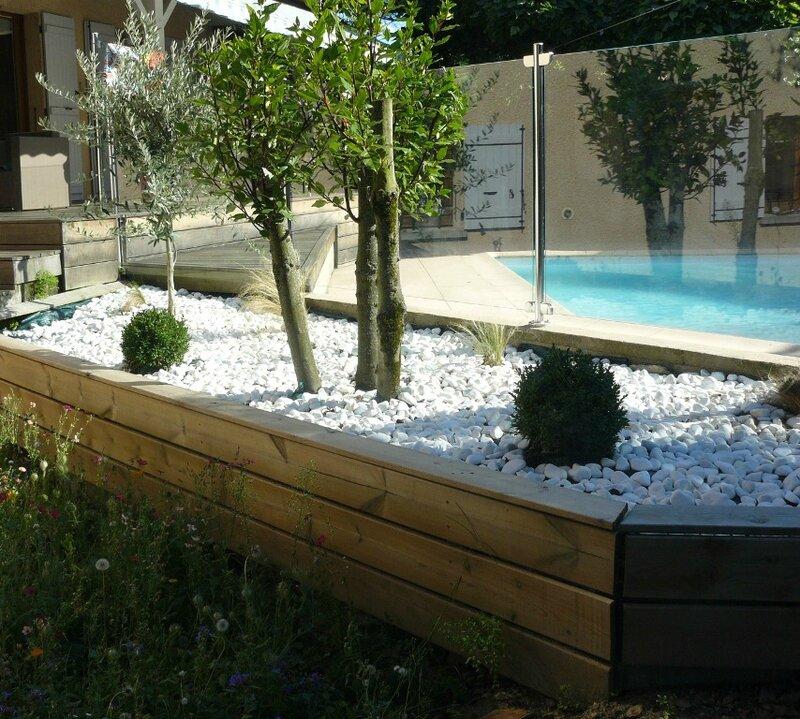 jardin zen pierres blanches