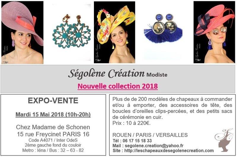 2018_05_15 expo Chapeaux PARIS Mme de SCHONEN