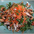 Salade de vermicelles de riz au poulet