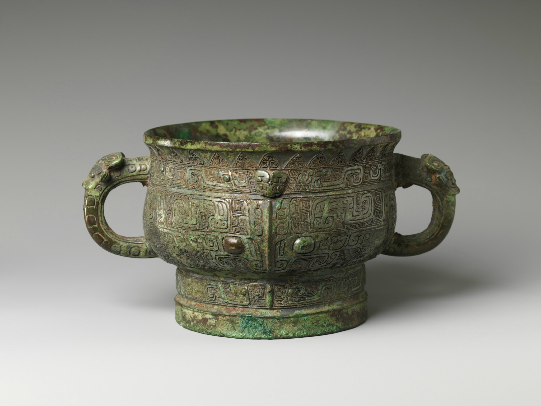 Food Serving Vessel (Gui), Shang dynasty (ca
