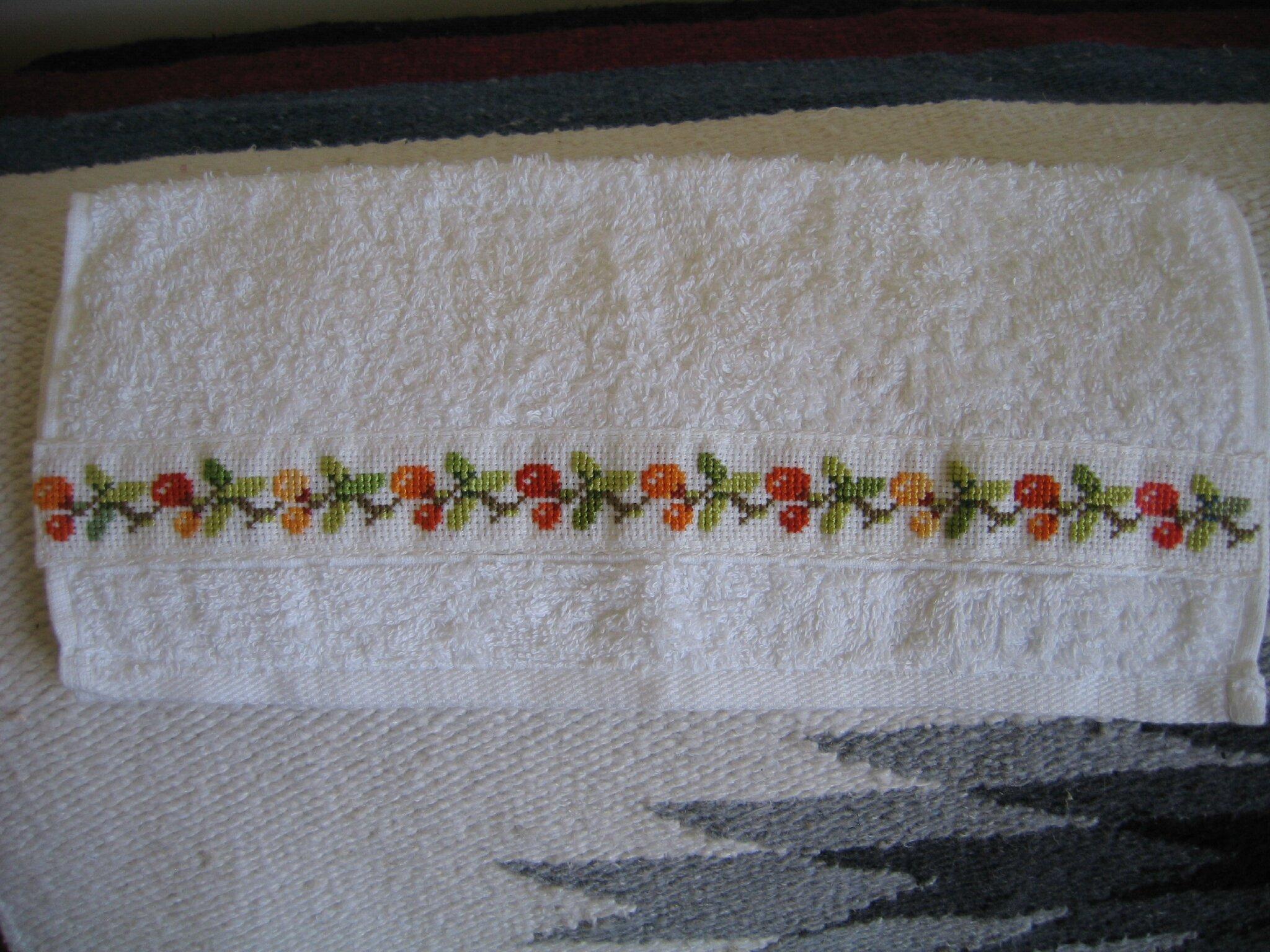 détail d'une serviette à main
