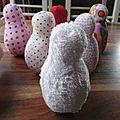 Fabric baby bowling set, jeux de quille en tissu pour bebe