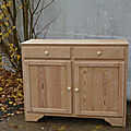 Buffet en bois naturel