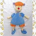 Doudou Peluche Lutin Garçon Bleu Et Orange Happy Horse