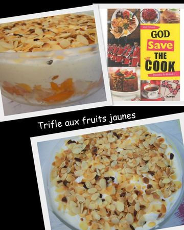Trifle aux fruits jaunes