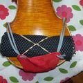 Tenue du violon, substituts d'épaulières, réglage mentonnière, suite