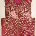Gilet talismanique et panneau de velours. turquie, art ottoman, 16e-17e siècle.