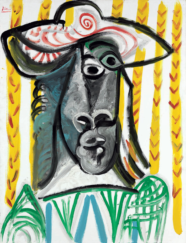 Pablo Picasso (1881-1973), Tête, signed 'Picasso' (upper left); dated and numbered '14