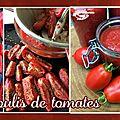 Coulis de tomates - sauce tomates