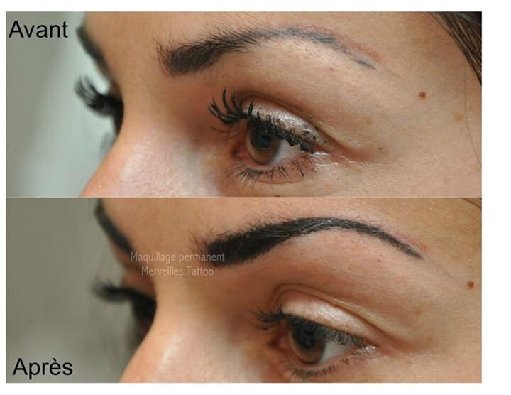 sourcils poil à poil, tatouer sourcils à salon de provence, maquillage permanent