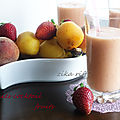 Smoothies- cocktail bananes et fruits du jardin
