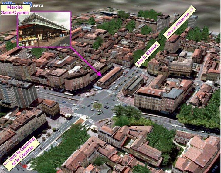 Le quartier Saint Cyprien à Toulouse
