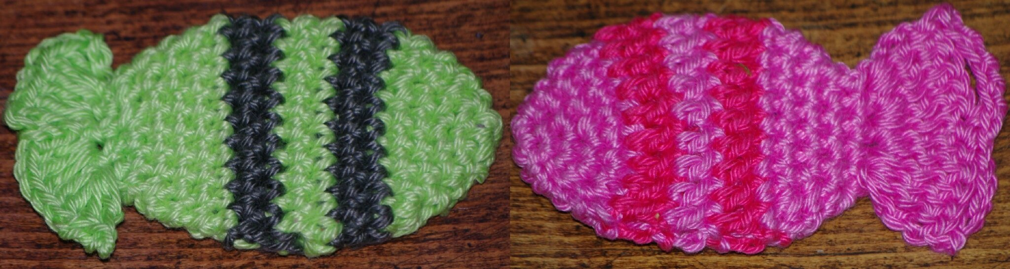 poisson tropical rayé au crochet