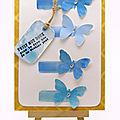 Carte aquarelle aux papillons L'Atelier au soleil