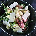 Salade gnocchis et roquette