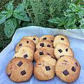 Dessert : cookies croquants à l'extérieur et moelleux à l'intérieur