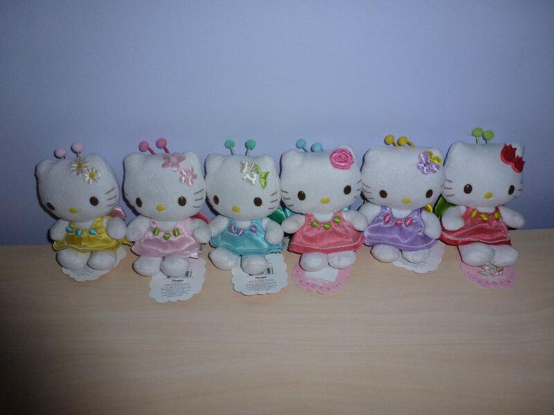 Mascot plushes Hello Kitty Language of Flowers 2008 2