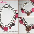 Bracelet macaron fruits rouges grainde café cookie mosaique