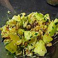 Verrine de crabe au kiwi