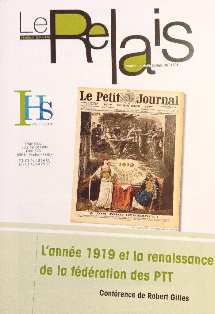 L'année 1919 et la renaissance de la fédération des PTT