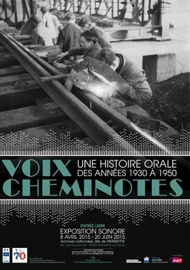 Affiche expo Voix cheminotes
