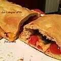 Pain-focaccia tomates cerises,mozzarella et basilic
