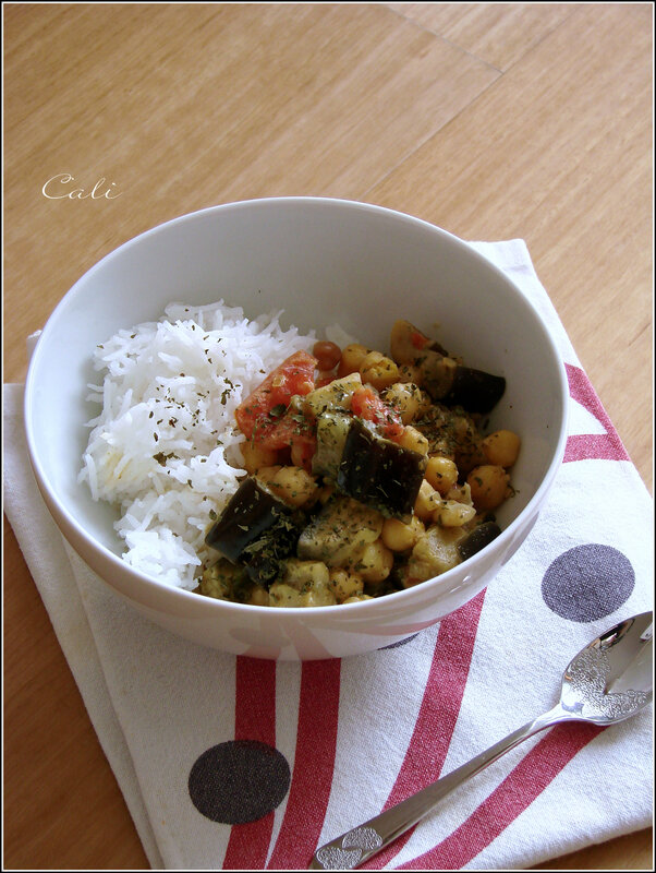 Curry d'Aubergine & Pois Chiches 002