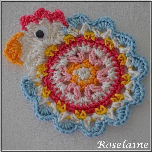Roselaine 37 Poule Drops crochet