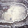 archéologie du bâti ,choeur et béton armé 1986
