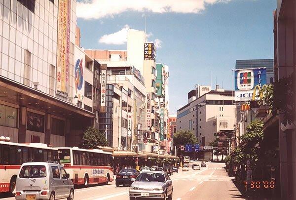 Katamachi, artère principale de Kanazawa