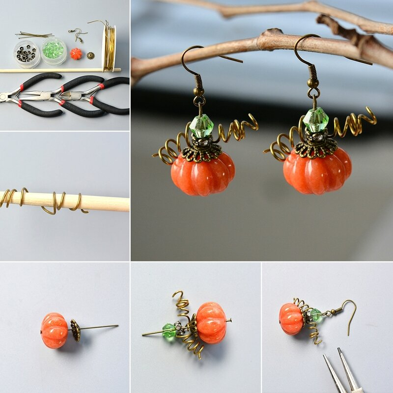 How-to-Make-Simple-yet-Chic-Pumpkin-Earrings-for-Halloween
