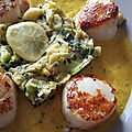 Une sauce curcuma-citron pour accompagner les noix de saint-jacques