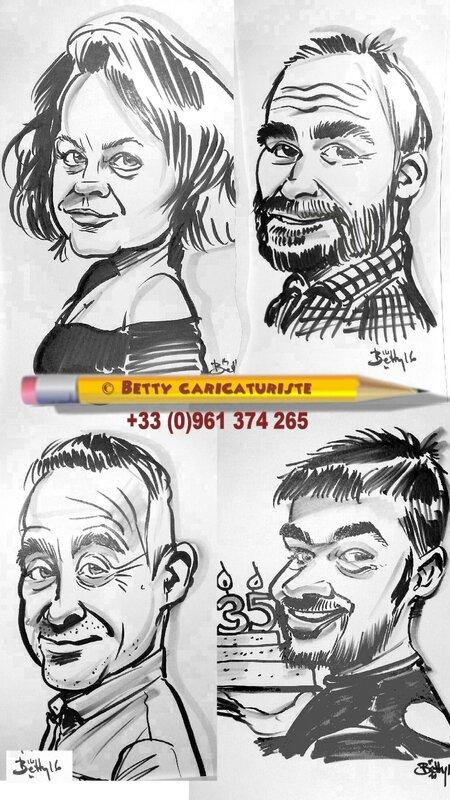 animation caricatures caricaturiste invites anniversaire TOUL 54