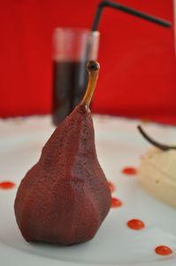 D poire pochée au vin rouge 2