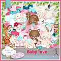 Kit baby love de plidesigns