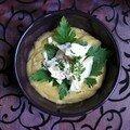 Crème de lentilles et poisson vapeur au persil plat
