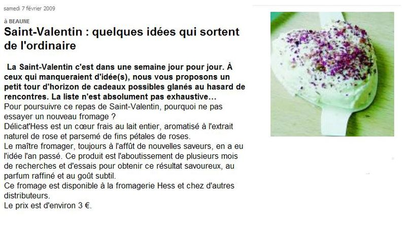 Article Bien public Fromage Hess