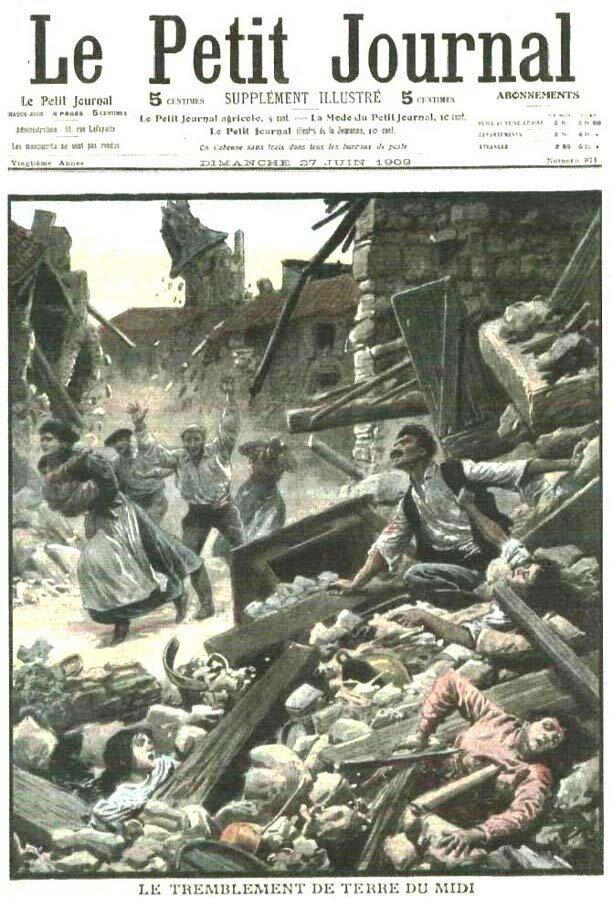 Le tremblement de terre du 11 juin 1909 en Provence