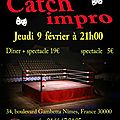 Catch-impro, jeudi 9 février au tr3nte qu4tre