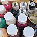 mélange de peinture sur soie - blog marimerveille