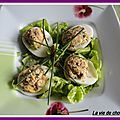 Oeufs aux sardines facon mimosa