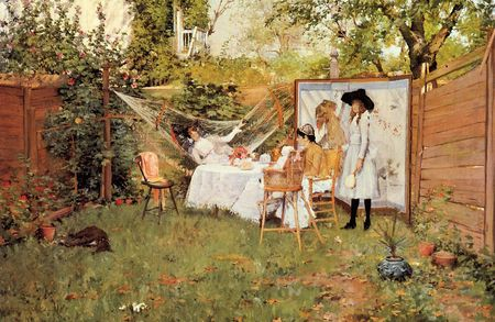 Chase_William_Merritt_The_Open_Air_Breakfast_aka_The_Backyard_Breakfast_Out_of_Doors