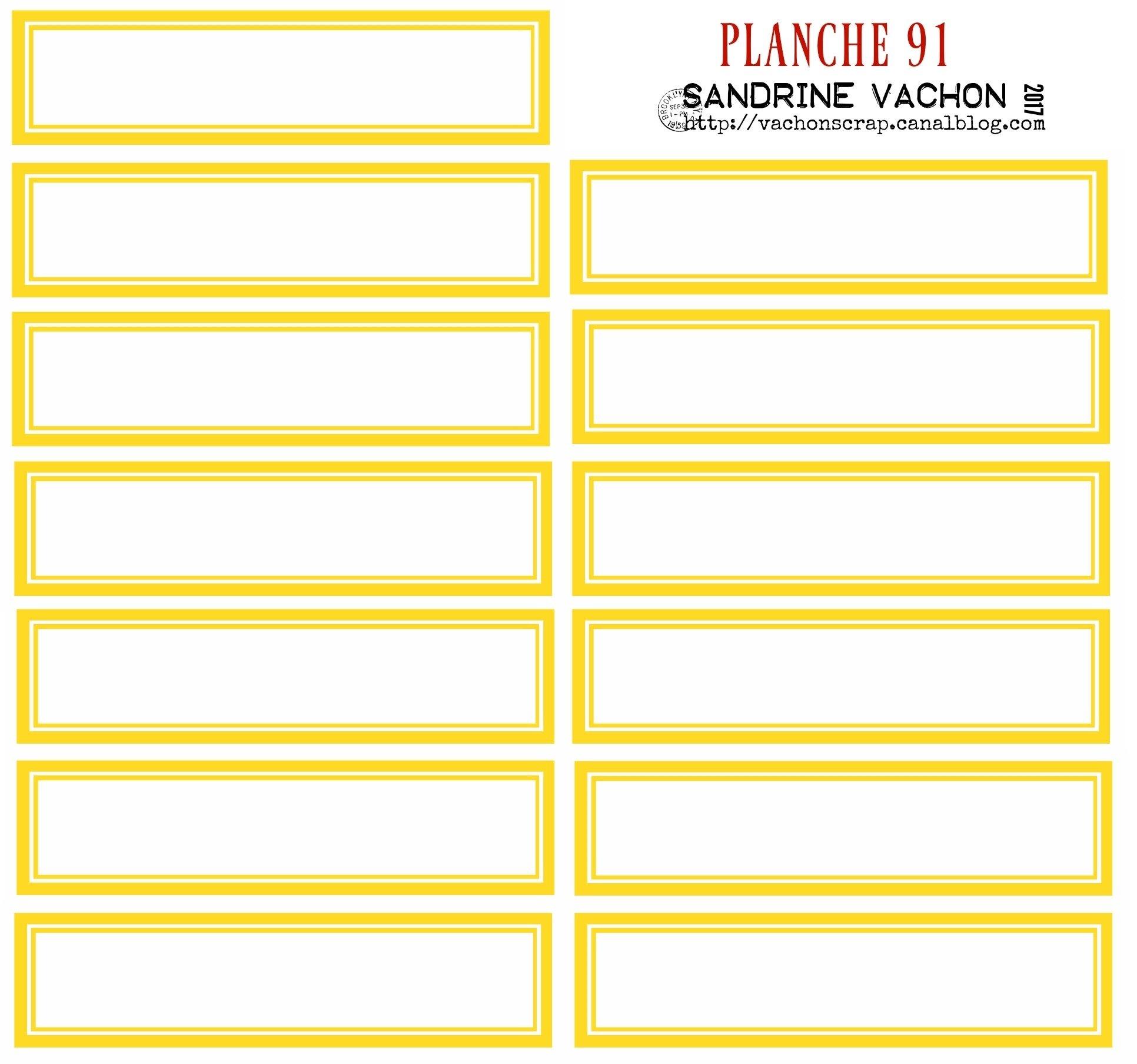PLANCHE 91 JAUNE