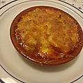 Gratin d'oeufs durs et champignons à la sauce tomate