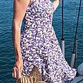 Une robe bustier