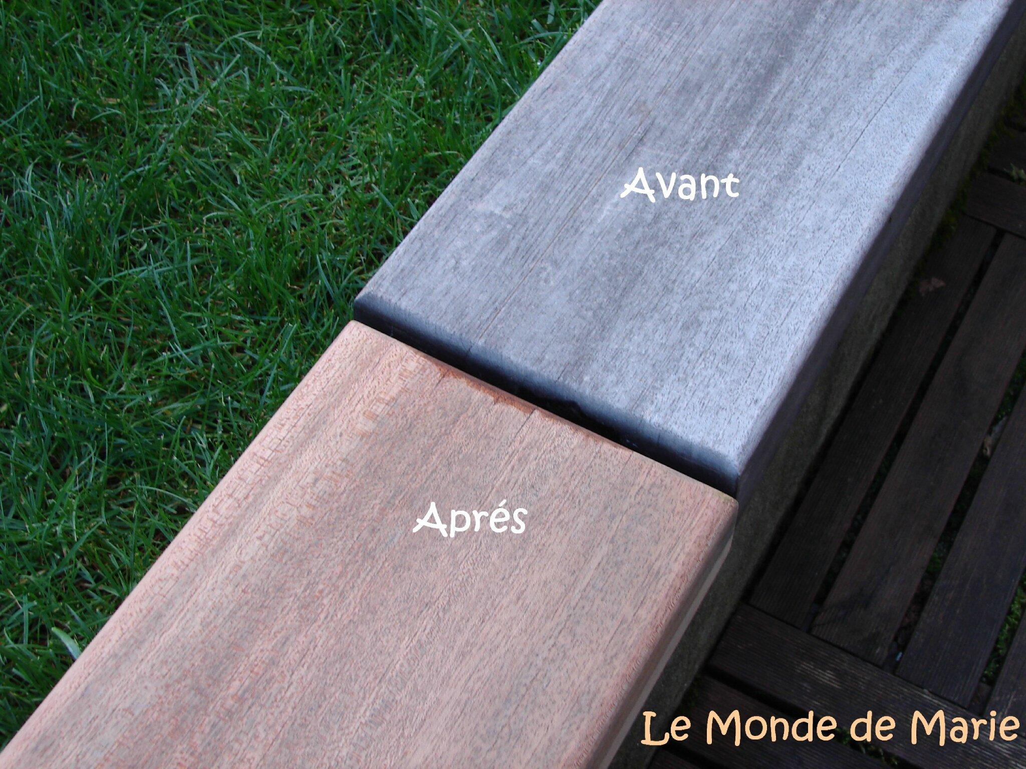 Rénover facilement les meuble d\'extérieurs en bois exotiques ou en ...
