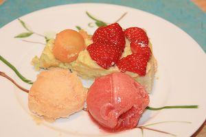 sorbet melon fraise croute fruits